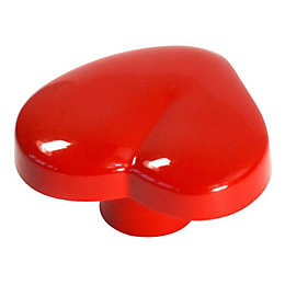 B&Q Hot Pink Heart Furniture Knob, Pack of