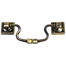 B&Q Brass Effect Bar Furniture Handle, Pack of