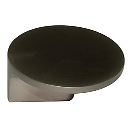 B&Q Matt Nickel Effect Round Furniture Knob, Pack