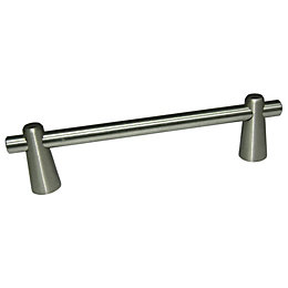 B&Q Satin Nickel Effect Bar Furniture Pull Handle,