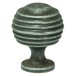 Cooke & Lewis Hammered Pewter Effect Round Cabinet