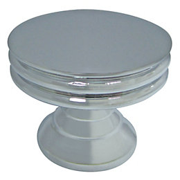 Cooke & Lewis Chrome Effect Round Cabinet Knob,