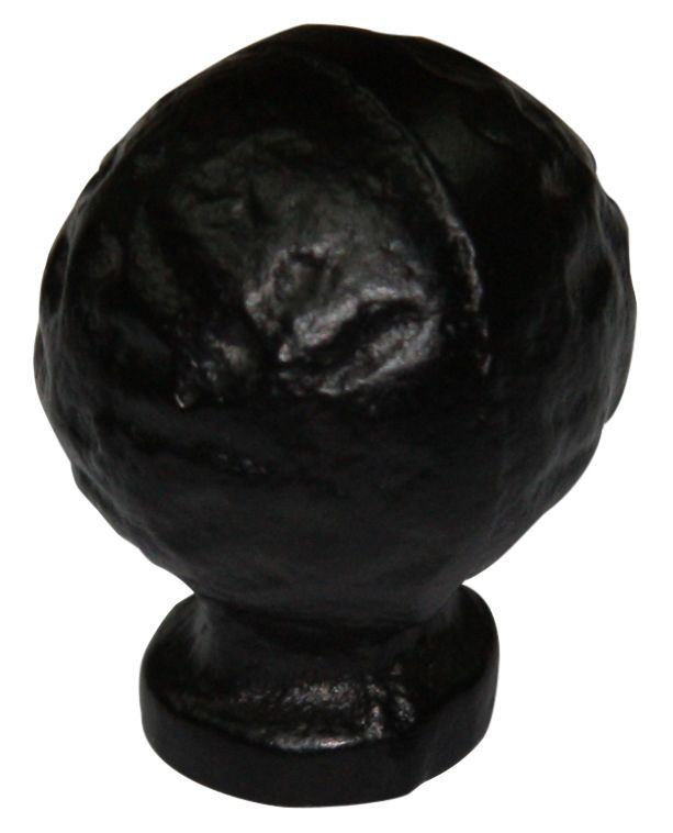B&q Black Iron Effect Round Furniture Knob, Pack Of 1