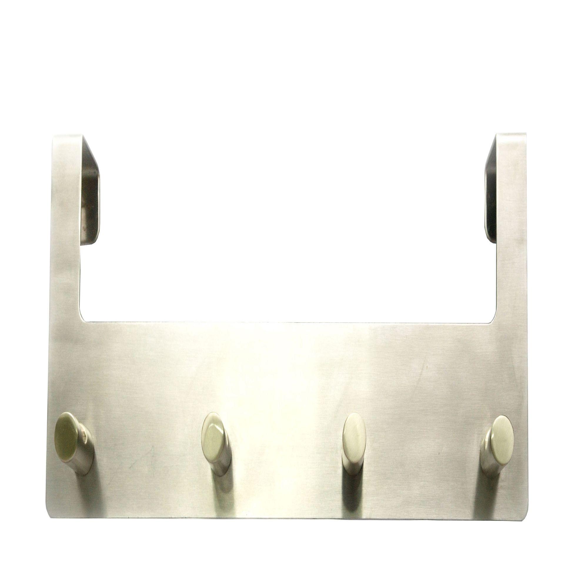 B&q Silver Satin Nickel Effect Hook Rail (h)120mm (w)39mm (l)321mm