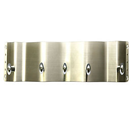B&Q Silver Chrome Effect Hook Rail (H)58mm (W)14mm