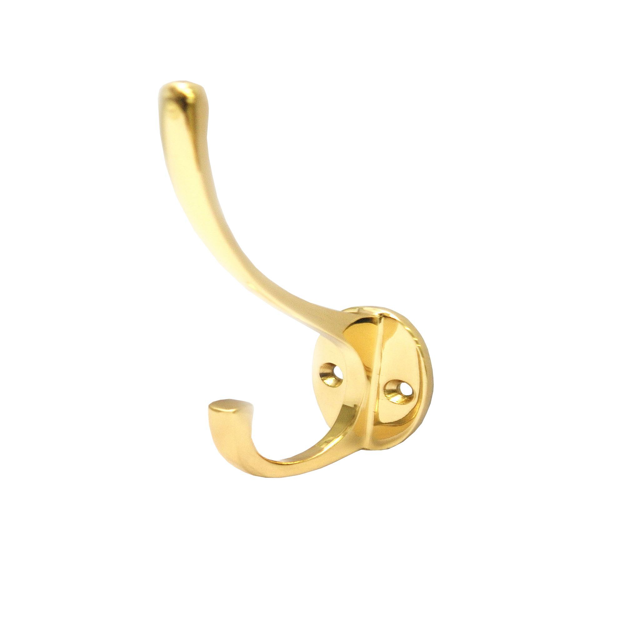 B&q Gold Brass Hat & Coat Hook