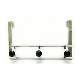 B&Q Silver Chrome Effect Hook Rail (H)167mm (W)96mm