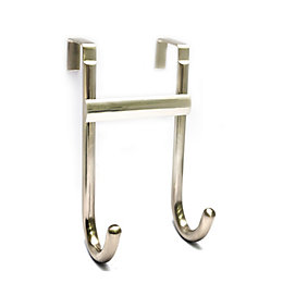 B&Q Silver Satin Nickel Effect Hook Rail (H)103mm