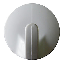 B&Q White ABS Robe Hook, Pack of 2