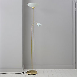 Carpio Antique Brass Effect Floor Lamp
