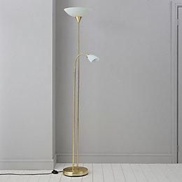 Carpio Antique Brass Effect Floor Lamp