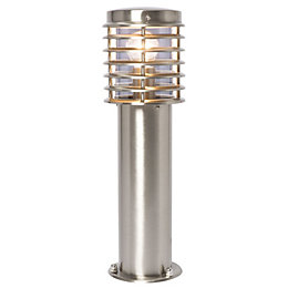 B&Q Clipper Chrome Effect Post Lantern