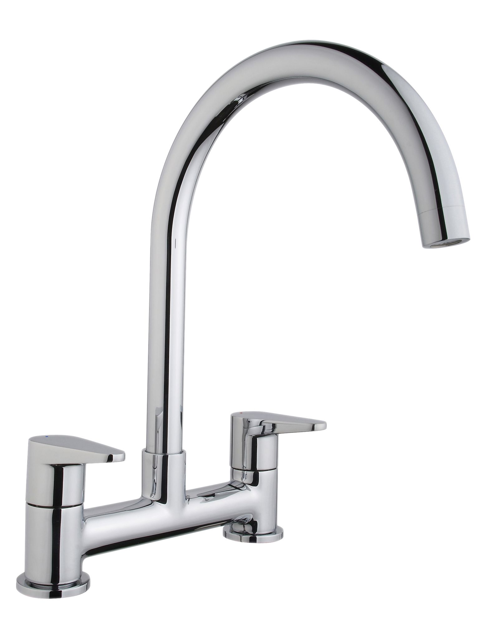 Cooke & Lewis Tone Chrome Finish Deck Mixer Tap ...