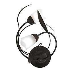 Cloe Leaf Swirl Chocolate Double Wall Light