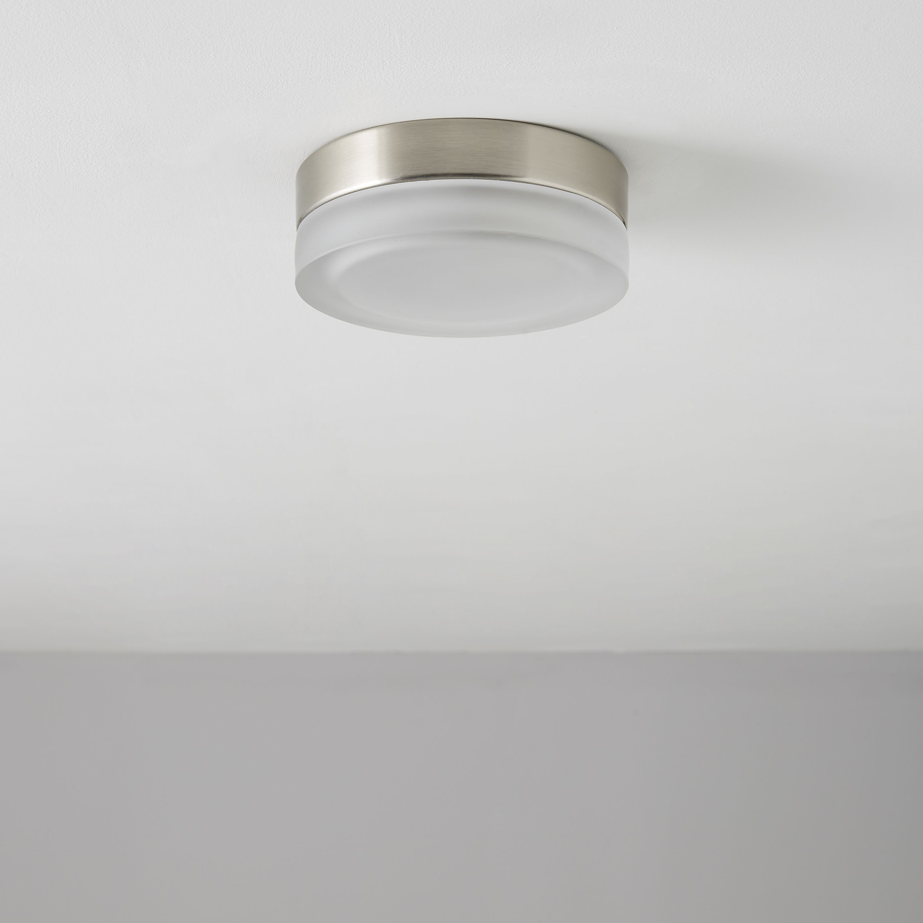 Aria Clear Brushed Chrome Effect Ceiling Light