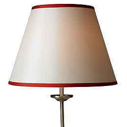Colours Gemma Cream & Red Ribbon Light Shade