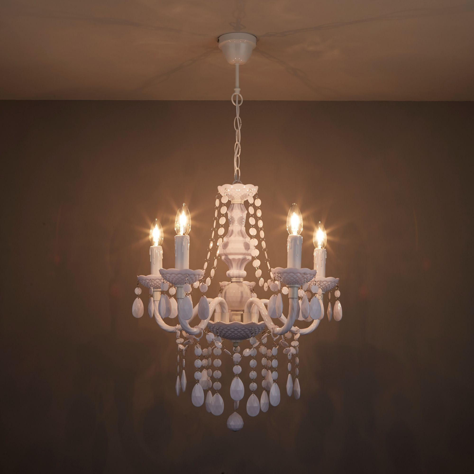 Wickham White 5 Lamp Pendant Ceiling Light | Departments | DIY at B&Q
