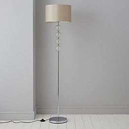 Gina Cream Chrome Effect Floor Lamp