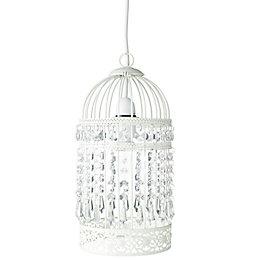 Isobel Cream Birdcage Pendant Light Shade (D)15cm