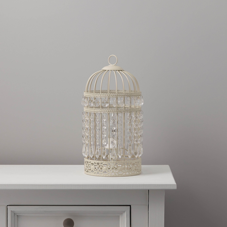 Bedroom Lights B Q: Isobel Cream Table Lamp