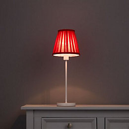 Colours Clara Red Pleated Light Shade (D)160mm