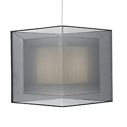Colours Taylor Grey Triple Layered Light Shade (D)30cm