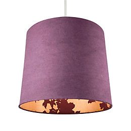 Colours Constance Purple Linen Effect Inner Print Light