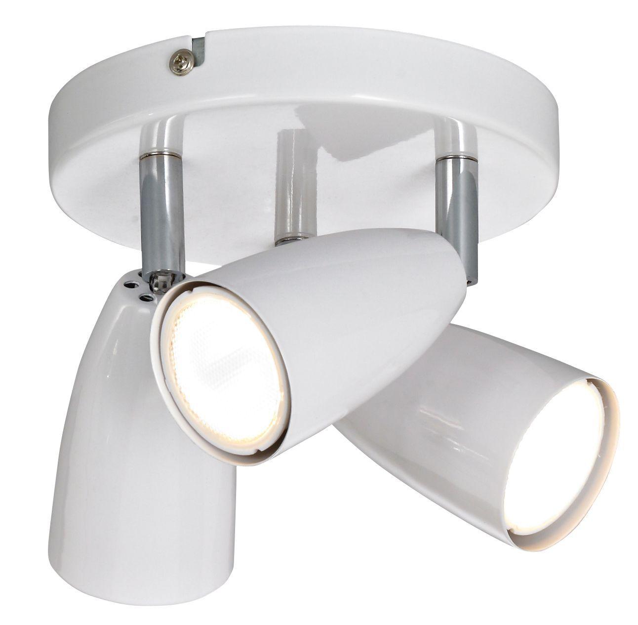 Kappa White Gloss 3 Lamp Spotlight Departments Diy At B Amp Q