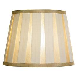 Colours Margaret Ivory Striped Light Shade (D)10.2cm