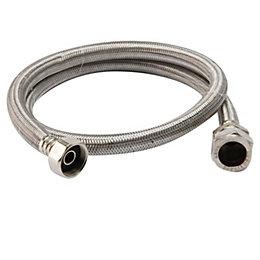 """Flexible Tap Connector, (Dia)22mm (Dia)3/4"""" (L)1m"""