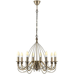 Vas Birdcage Gold 8 Lamp Pendant Ceiling Light