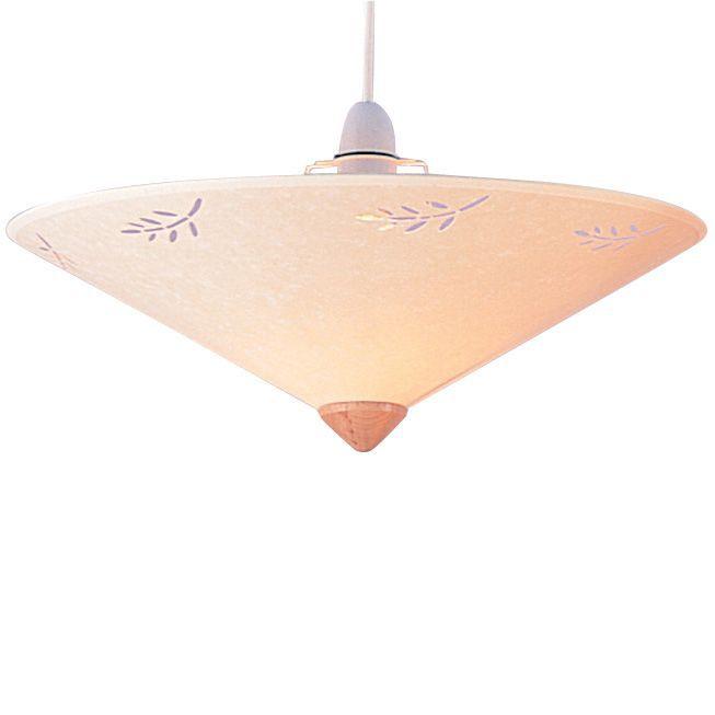 Olive Cream Leaf Print Uplighter Light Shade D 40cm