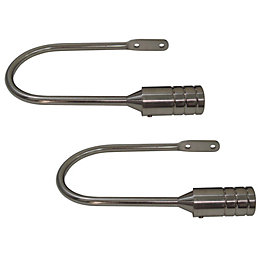 Barrel Stainless Steel Effect Curtain Hold Backs, Pack