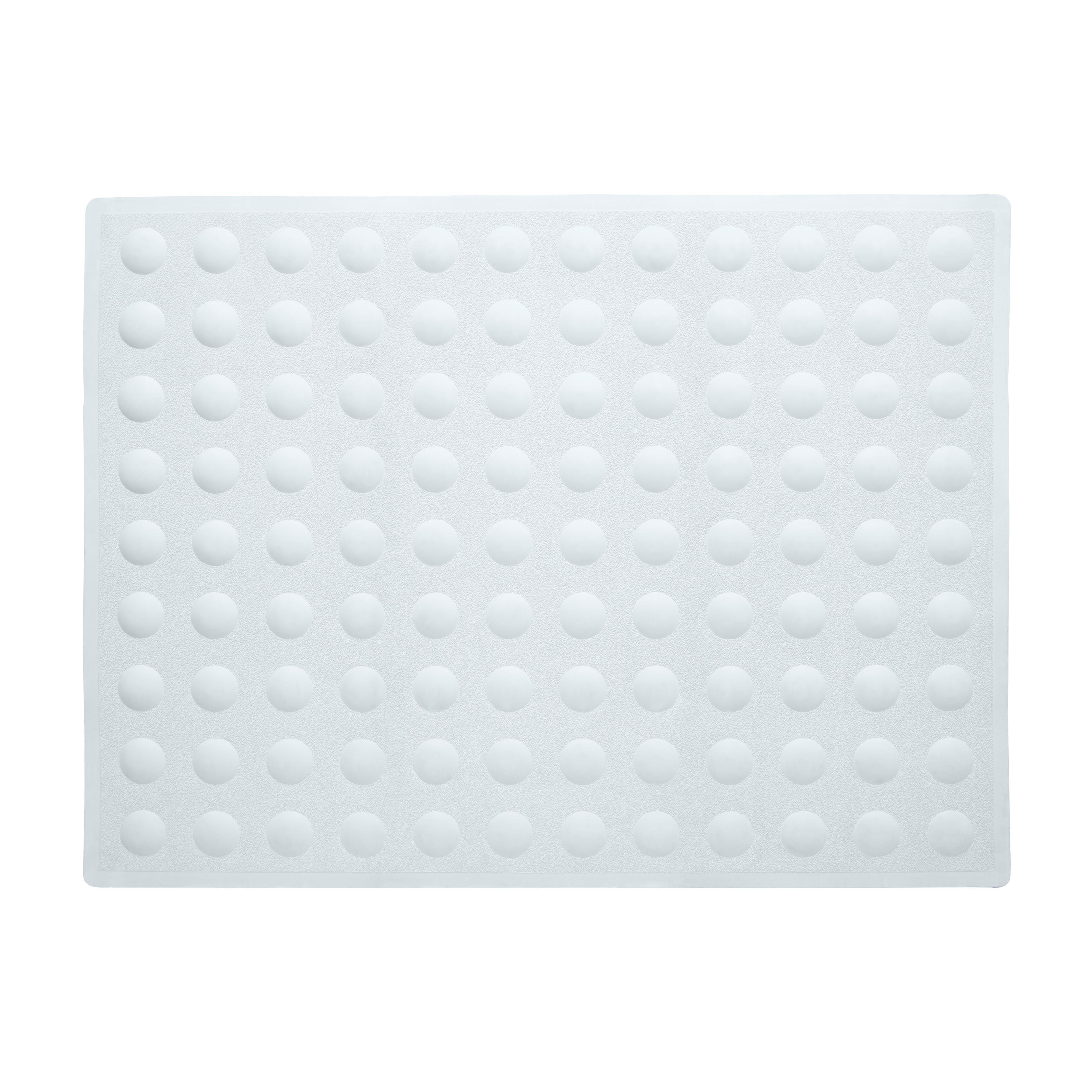 B&q White Rubber Anti-slip Bath Mat (l)570mm (w)430mm