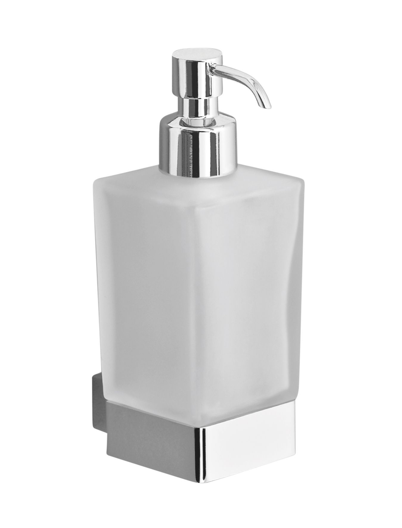 Cooke & Lewis Streamline Chrome Effect Wall Mounted Soap Dispenser