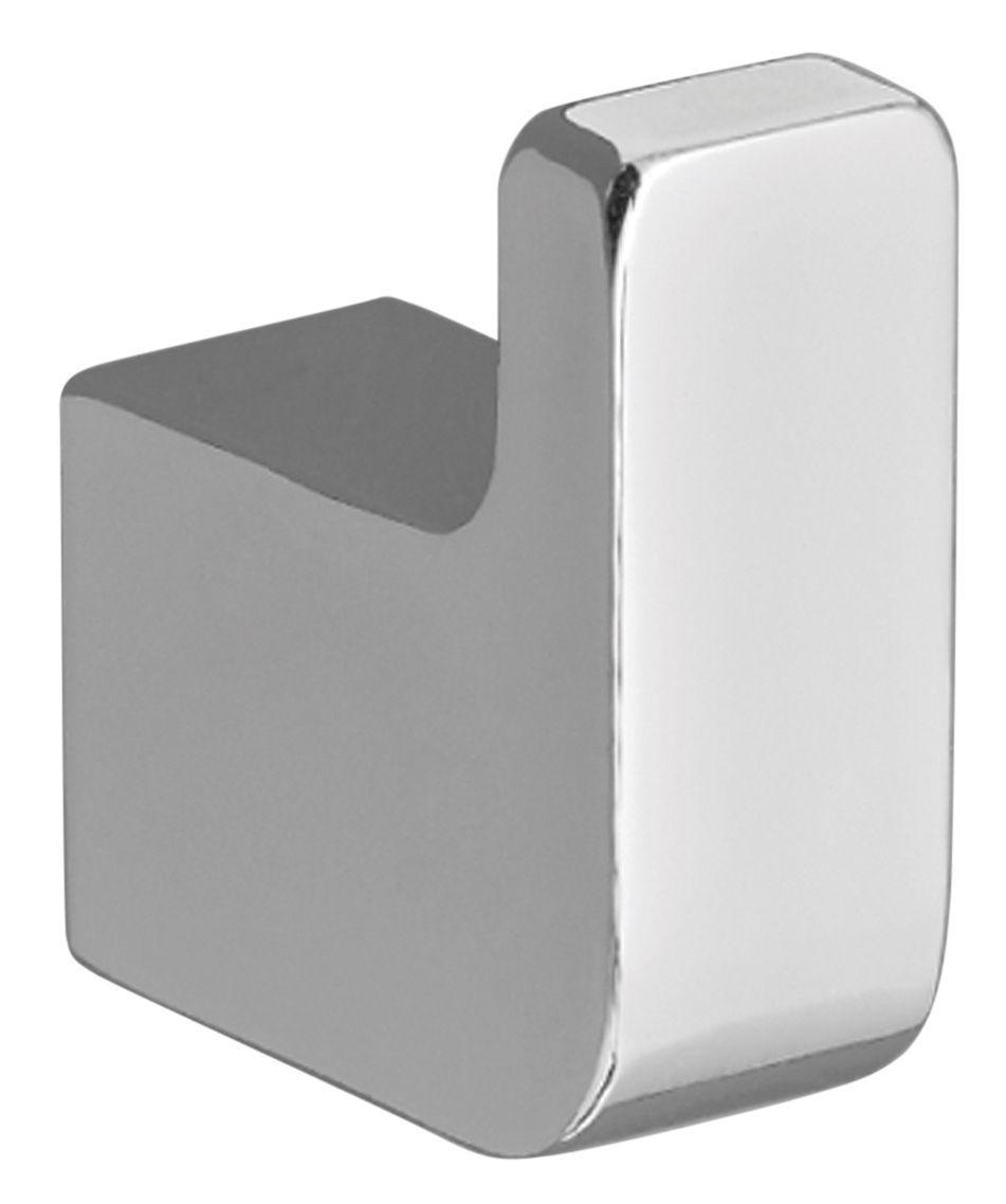 Cooke & Lewis Streamline Silver Chrome Effect Zinc Alloy Single Hook