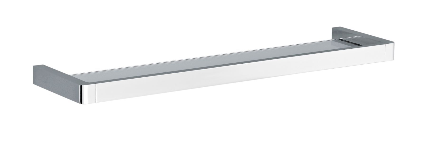 Streamline Chrome Effect Shelf (l)504mm (d)130mm