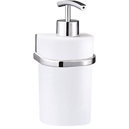 B&Q Axis White Chrome Effect Soap Dispenser