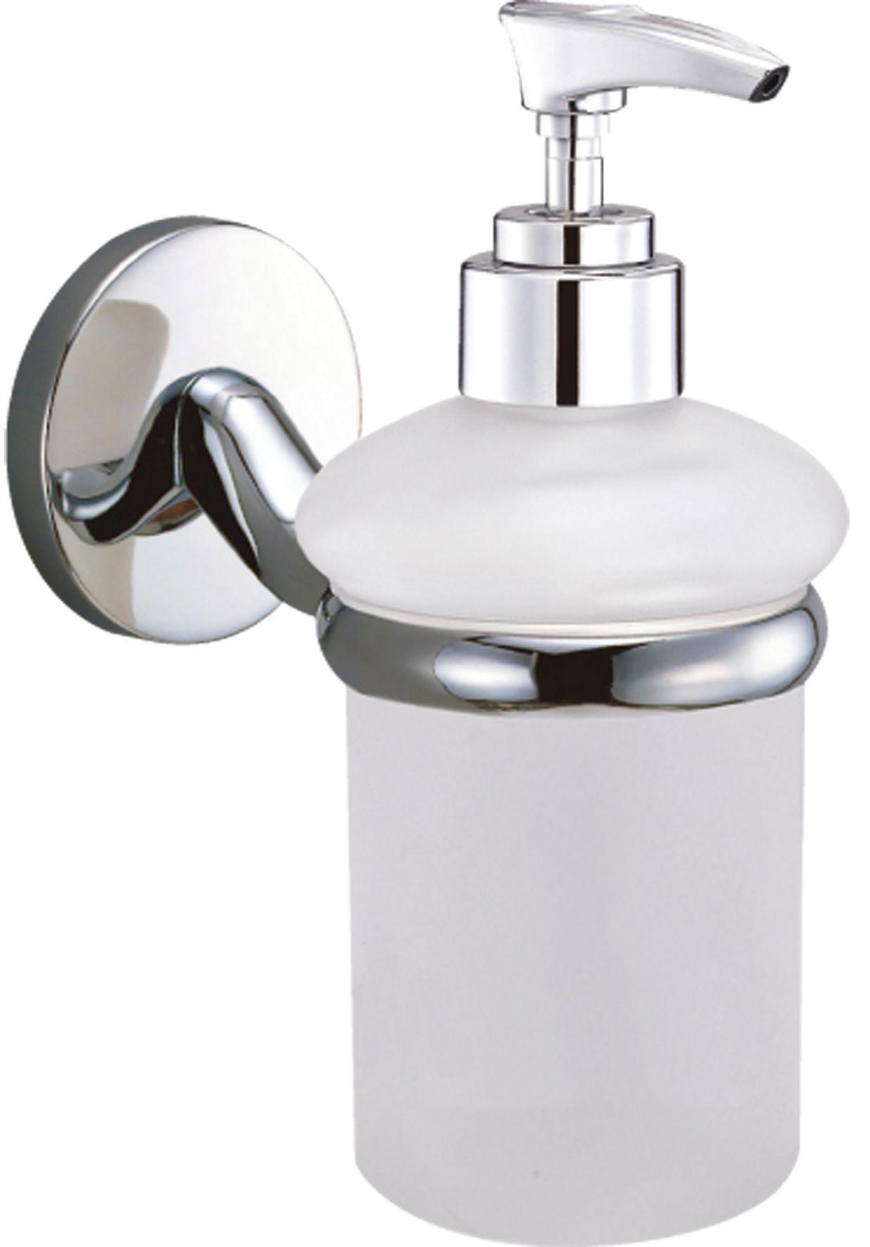 bu0026q curve white chrome effect wall mounted soap dispenser departments diy at bu0026q