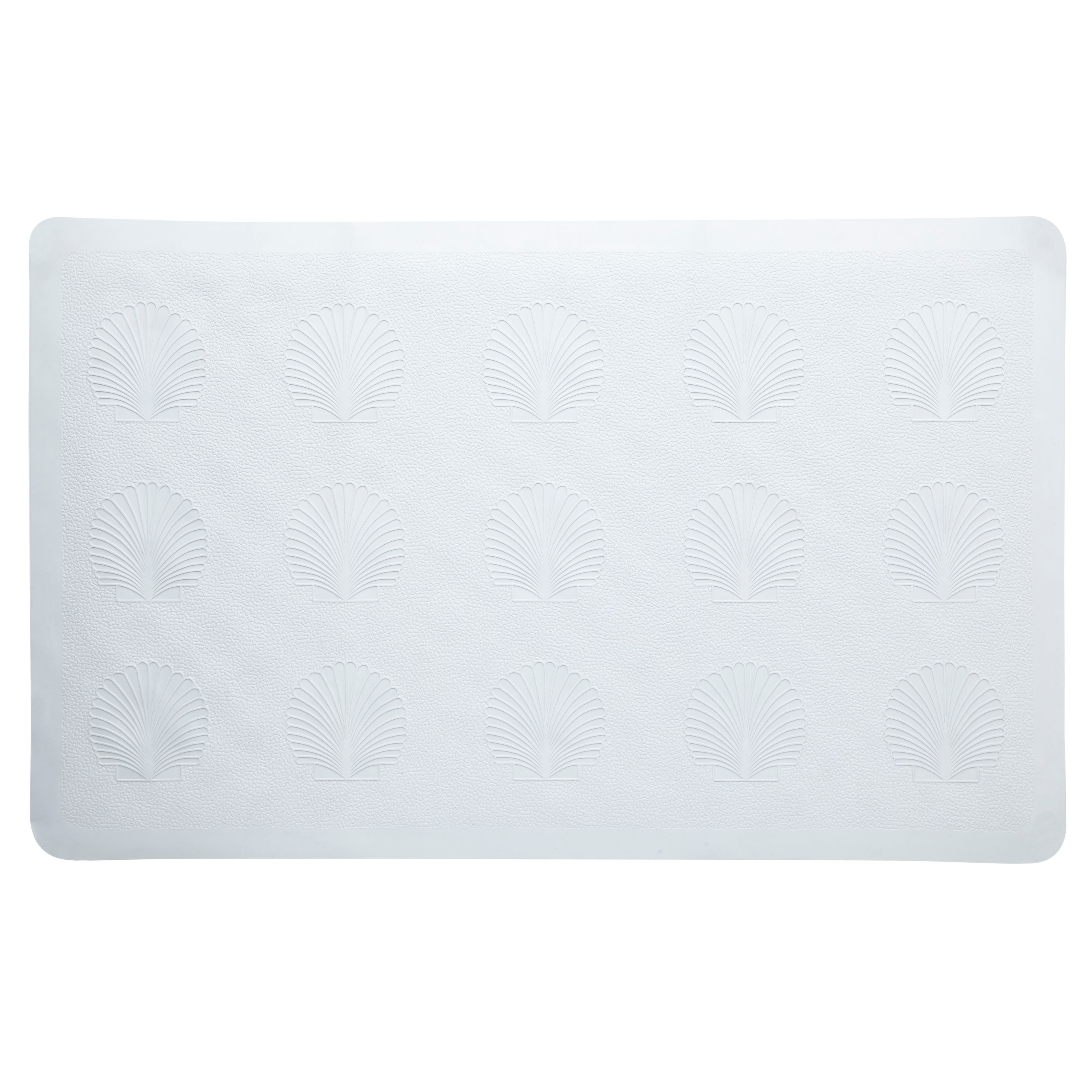 Value White Rubber Anti-slip Bath Mat (l)570mm (w)360mm