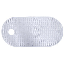 B&Q Clear PVC Anti-Slip Bath Mat (L)800mm (W)400mm