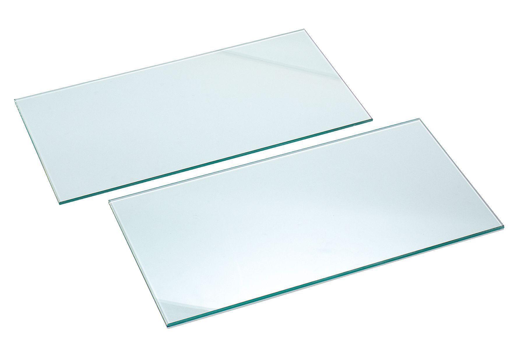 Clear Glass Cupboard Shelf (l)266mm (d)247mm, Pack Of 2