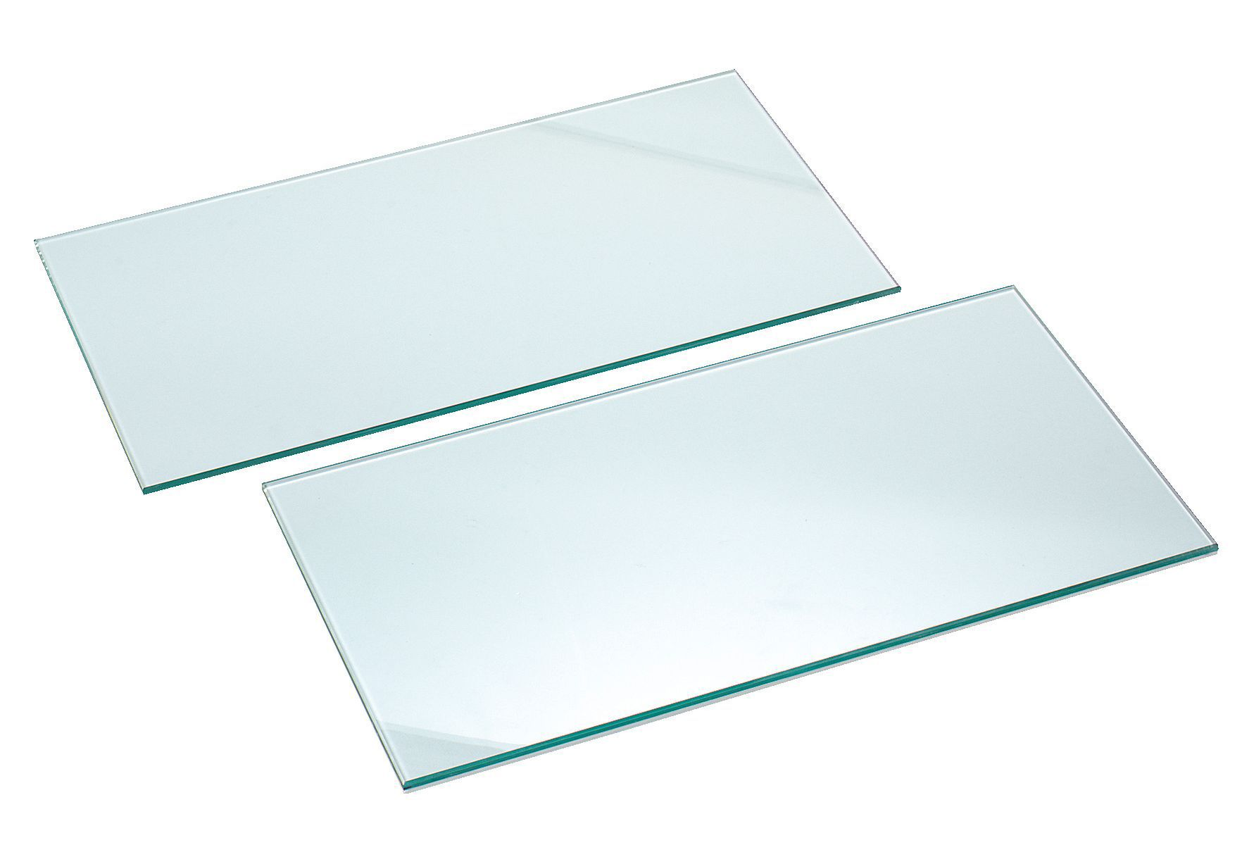 Clear Glass Cupboard Shelf (l)567mm (d)247mm, Pack Of 2