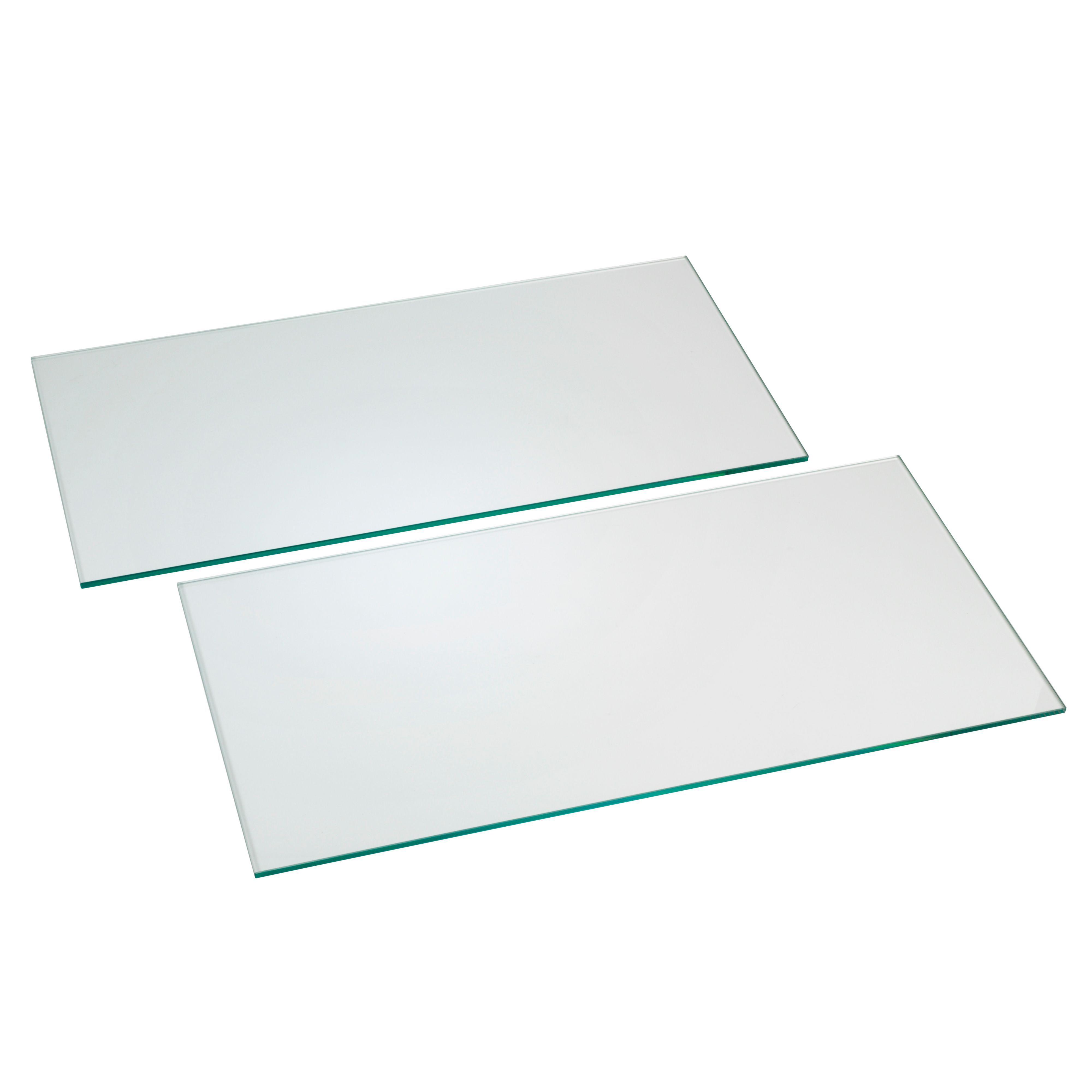 Clear Glass Cupboard Shelf (l)458mm (d)280mm