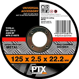 PTX Flat Metal Cutting Disc (Dia)125mm