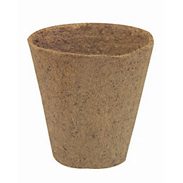 Natural Plant Pot (L)80mm (Dia)80mm, Pack of 12