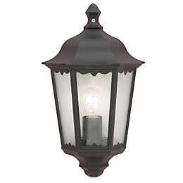 Ryedale Black Mains Powered External Wall Lantern