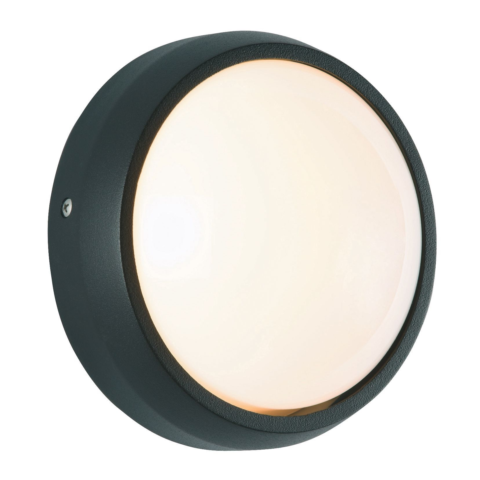 Gino Black Mains Powered External Bulkhead Wall Light