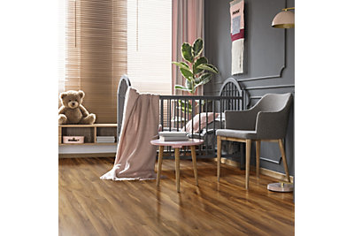Dolce High Gloss Walnut Effect Laminate Flooring 1.19 m² Pack