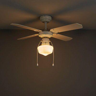 Houston White Ceiling Fan Light